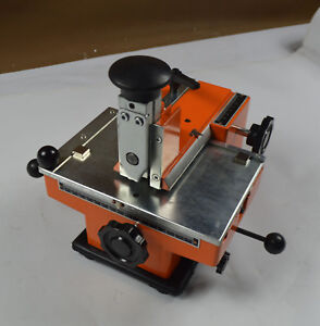 Semi automatic Embosser Machine Metal Tag Letter Stamp Tool Without Letter Wheel