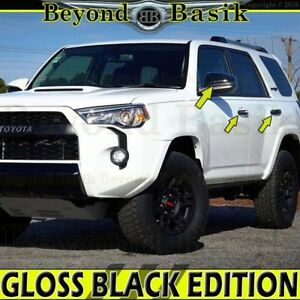 2014 2019 Toyota 4runner Gloss Black Door Handle Covers Ns Mirror Cover Overlays