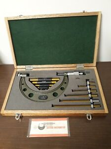 Mitutoyo 0 6 Inch Micrometer Set No 104 137 W Standards Excellent Condition