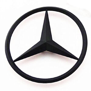 M Benz Trunk Chrome Star Emblem Badge Logo 3 5 90mm Black
