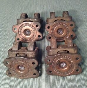Set Of 4 Antique Casters Phoenix Caster Company For Industrial Restoration