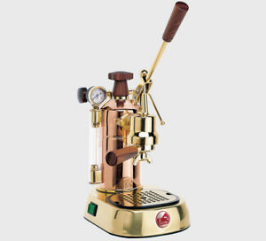 2018 La Pavoni Professional Prg Copper gold Plated Espresso Machine Italy