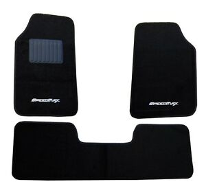 Car Carpet Speedmax Car Mat Universal One Set 3 Pcs Black