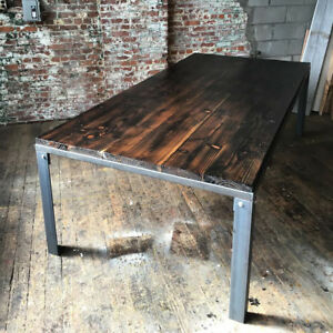 Custom Conference Table Industrial Style