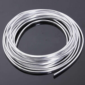 15m Chrome Strip Moulding Trim Cars Door Edge Scratch Guard Protector Cover Mold
