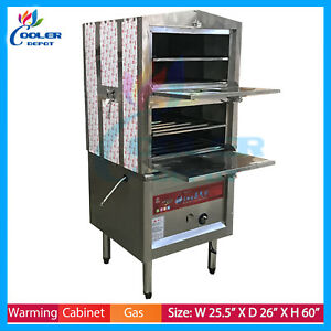 Food Steam Cooking Warmer Steamer Cabinet Electric Gas Propane Commercial Rack