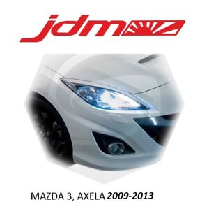 For Mazda 3 Eyebrows Eyelids Headlight Cover 2009 2013 Mazdaspeed 3 Axela 2pcs