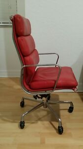 Herman Miller Ea437 Eames Soft Pad Executive Office Chair Mid Century Modern Red