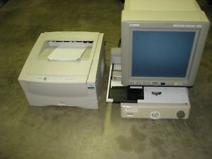 Canon Microfilm Scanner 400 With Roll Carrier 200 And Canon Fileprint 400