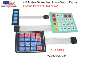 4x4 Matrix 16 Key Membrane Switch Keypad Keyboard For Arduino avr pic arm