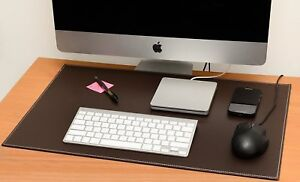 Computer Leather Desk Pad Stylish Mat Cover Reversible Color Design Brown To K