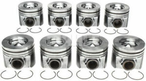 Mahle Ford 6 4 6 4l Powerstroke Diesel Pistons 2008 2010 020 Set Of 8