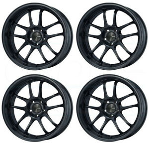 4 new 18 Enkei Pf01 Wheels 18x9 18x9 5 5x114 3 45 45 Black Paint Staggered Rims