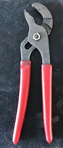 Snap On Tools 9 Long Talon Soft Grip Pliers Red Adjustable Joint Channel 91acp