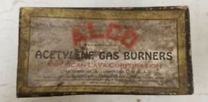 Ford Model T Brass Era Alco Acetylene Gas Burners American Lava Corporation Box