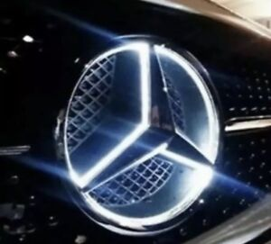 2015 2018 Mercedes Benz Front Star Led Emblem White Light Deep Dish Glc Gle Gls
