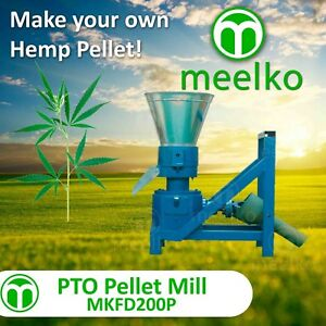 Pellet Mill Pto 7 8 200mm Pto Press Pellets Hemp