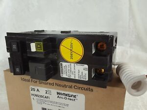 Hom220cafi Square D Homeline 2 Pole 20 Amp 120 Volt Arc Fault Breaker New In Box