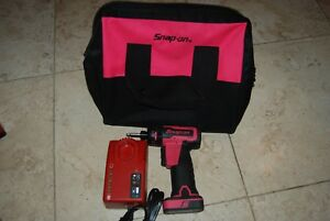 Snap On Rare Pink 1 4 Microlithium Cordless Screwdriver Cts725p