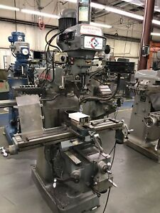 Clausing Kondia Fv 1 Vertical Milling Machine 2 Axes Dro Power Feed With Vice