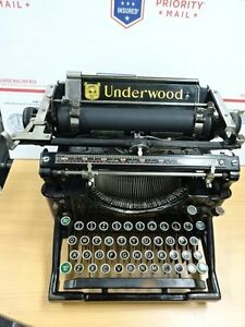 Underwood Typewriter No 5 Antique Able To Write Needs Ribbon As Is B Topanga