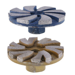 2 Set Diamond Segment Grinding Wheel Cup Marble Disc Grinder Granite Stone