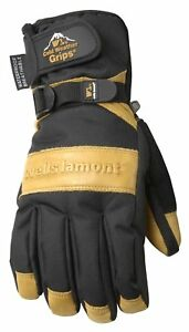 Men s Waterproof Winter Gloves With Leather Palm Extra Large wells Lamont 7660