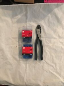 200 Gb 10 123 Electrical Butt Splices 16 14 Awg And 1 Ideal Crimp Tool New