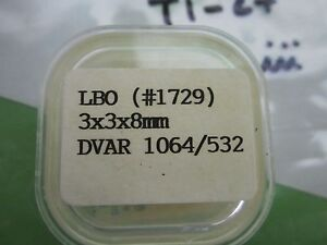 Optical Csk Non Linear Crystal Nlo Lbo Type 3x3x8 Mm Laser Optics Bin t1 28