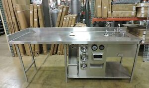 West Star Commercial S s Table W Sink Dipping Well Cup Lid
