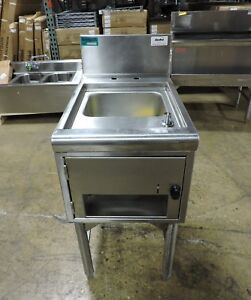 Supreme Metal Commercial Underbar Hand Sink With Soap And Towel Dispensers