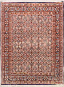 Sumptuous Excellent Geometric Ivory 5x7 Wool Persian Mood Moud Oriental Area Rug