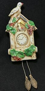 Vintage * 1940s * MADE in JAPAN *** WALL POCKET *** Cuckoo Clock