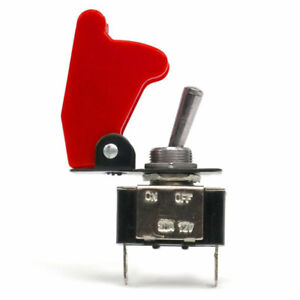 Race Toggle Switch With Red Safety Cover Universal Keep It Clean Truck Rod