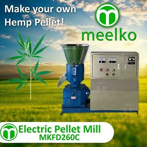 Pellet Mill 15kw Electric Engine Pellet Press 3 Phase hemp