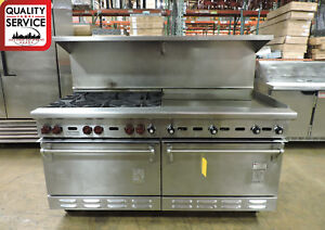 Wolf C68d 1251 Commercial 6 burner And Griddle Top Range With 2 Standard Ovens