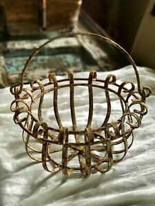 Rustic Rusty Wire Basket