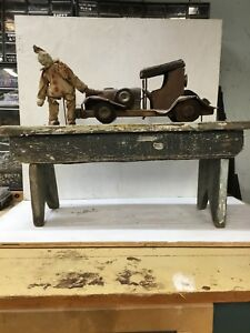 Old Jigger Toy Krazy Clown Clown Lifting Jalopy Really A Cool Piece C 1927
