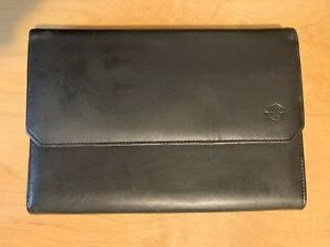 Note Pad 7 X10 Folio Black Full Grain Napa Leather Planner Binder Franklin Covey