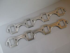 Small Block Ford Aluminum Rectangle Header Exhaust Gaskets Reusable Sbf 4143