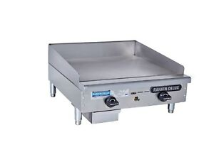 Rankin delux Rdgm 24 a c Commercial Manual Gas Griddle