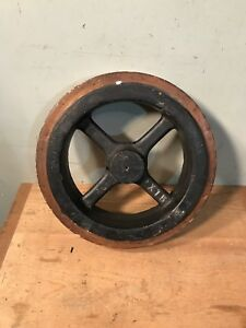 Industrial Wood Pulley Wheel Antique Factory Salvage 14