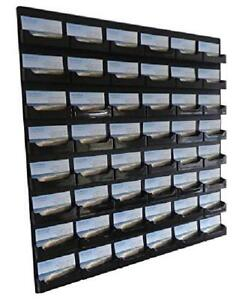 Source One 48 Pocket Wall Mount Business Card Holder Rack Black Acrylic bc wm