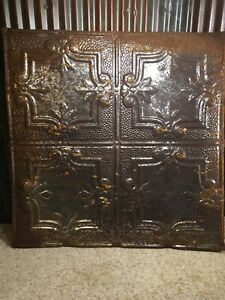 Architecture Salvage Tin Metal Ornate Decorated Ceiling Tile Panels