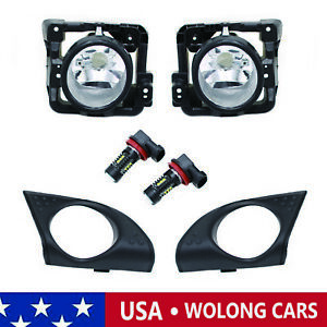 1pair Lh rh Fog Driving Light Lamp With 2 Led Bulbs Cover Fit For 09 20 Tsx