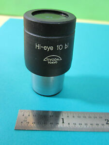Microscope Part Tiyoda Japan Eyepiece Optics Hi eye 10 Bi Bin hm lux