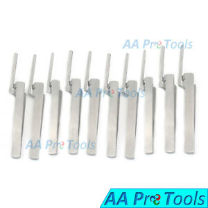 10 Dental Articulating Paper Holder Serrated Pliers Tweezers Straight Stainless