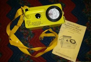 Victoreen Cdv 715 Radiological Survey Meter Geiger Counter Model 1a With Manual