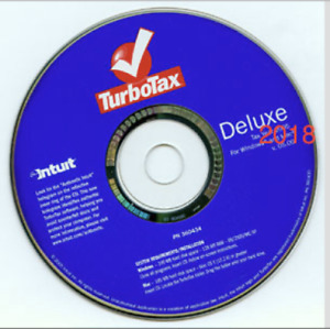 New Turbotax Deluxe 2018 Fed Efile State Pc mac Disc