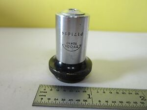 Microscope Part Objective Tiyoda Japan 20x Optics As Is Bin 31 b 28